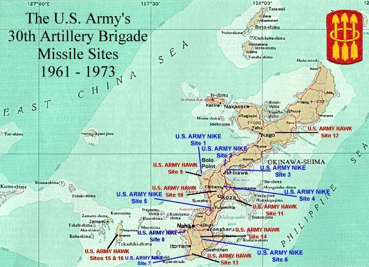 some of the okinawa maps are either completely wrong or incomplete i was at hawk site 9 next to nike site 1 heres my map actually his web site