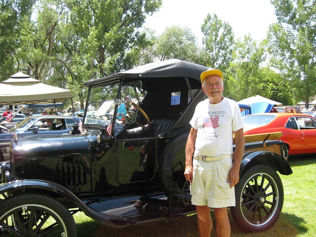 Lafarr with someone else s ford model t truck pretty much as manufactured